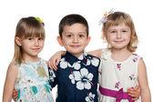 Tres niños felices — Foto de Stock