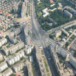 Bucharest, aerial view - Stock Photo