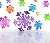 Snow, color — Stock Photo