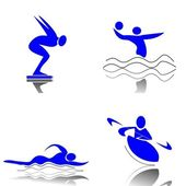 Water Sports — Stock Vector