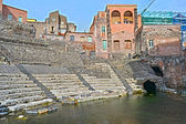 Roman Theatre of Catania — Stock Photo