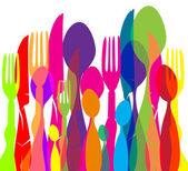 Texture Cutlery — Stock Vector