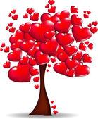 Träd med hjärtan — Stockfoto