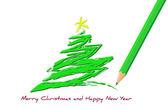 с рождеством христовым и с новым годом — Cтоковый вектор