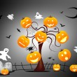 Stock Photo: Funny Halloween background