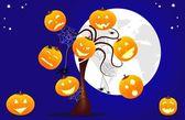 Divertente sfondo di halloween — Vettoriale Stock