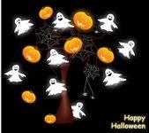 śmieszne tle halloween — Wektor stockowy
