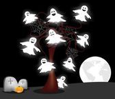 Funny Halloween background — Stockvektor