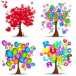 Beautiful trees for all occasions — Stock Vector