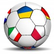 Soccer Ball Euro 2012 — Stock Vector