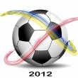 Royalty-Free Stock Vector Image: Soccer Ball Euro 2012