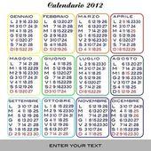 календарь 2012 — Cтоковый вектор