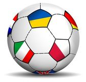 Soccer Ball Euro 2012 — Vector de stock