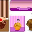 Muffin decorati - Stockvectorbeeld
