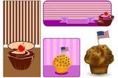 Muffin dekorati — Stockvektor