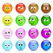 Vector smileys - Stock Vector