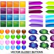Glossy Buttons — Stock Vector #8280723
