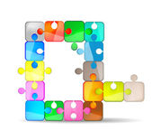 Letter Q with colorful puzzle — Stockvektor
