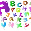 Vector de stock : Letters colorful balloon-shaped