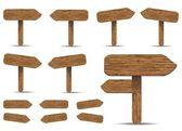Segnaletica di legno — Stock Vector