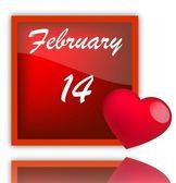 February 14 — Stock Vector