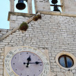 Special clock near the cathedral of Sibenik, with 24 hours — Photo