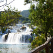 Wonderful Waterfalls of Krka Sibenik — Stock Photo