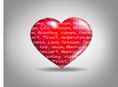 Sentiment of Love — Vector de stock