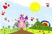 Castle of love — Stock Vector