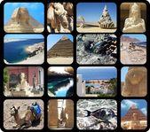 Photo sets on Egypt — Stock Photo