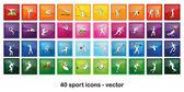 Sport Icons — ストックベクタ