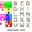 Royalty-Free Stock Vector Image: Letters puzzle