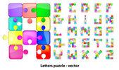 Puzzle litery — Wektor stockowy