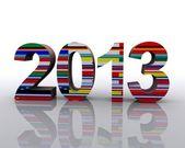 2013 świat — Zdjęcie stockowe