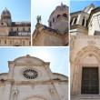 Monumental dome of the Cathedral of Sibenik, Croatia — Stock Photo