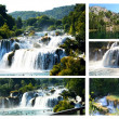 Wonderful Waterfalls of Krka Sibenik, Croatia - Stock Photo
