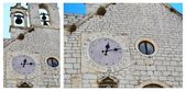 Special clock with 24 hours, Sibenik — 图库照片