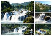 Wonderful Waterfalls of Krka Sibenik, Croatia — Stock Photo