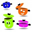Cooking pots — Stock Vector