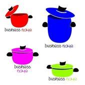 Cooking pots — Stock Vector