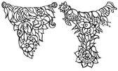 あなたの設計のための花の装飾的な要素をベクトルします。 — ストックベクタ
