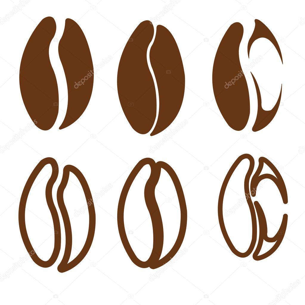 Вектор кофейное зерно 6