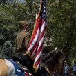 Female horserider in 4th of July parade in Washington DC. — Stock Photo