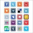 Vector Social Media Icons 3 - Stock Vector