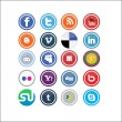 Vector Social Media Icons — Vettoriali Stock