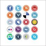 wektor społecznościowych ikony — Wektor stockowy