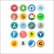 Royalty-Free Stock Vector Image: Vector Social Media Icons 2