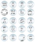 Vettoriale icone social media 2 — Vettoriale Stock