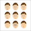Stock Vector: Vector Boy Faces