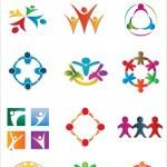 Community & Unity Logo Pack — Stock Vector